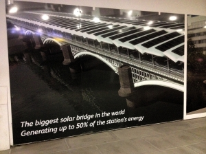 Blackfriars station proudly proclaims its modernity