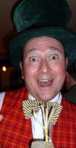 Dan March at his Mad Hatter party