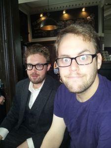 Jon Brittain (right) with John Kearns