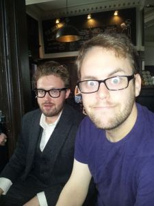 Jon Brittain (right) with John Kearns