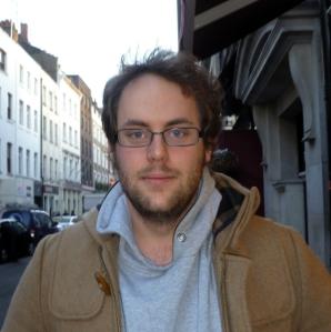 Jon Brittain without Margaret Thatcher in Soho yesterday