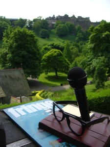 The Malcolm Hardee Comedy Award with Edinburgh Castle behind