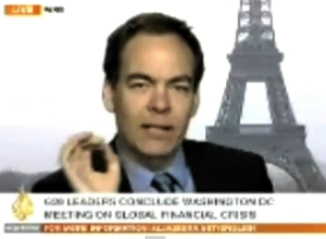 Max, in Paris, gives his opinions to Al Jazeera English