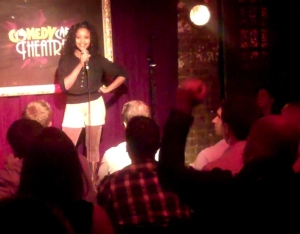 Njambi at the Comedy Cafe Theatre in London