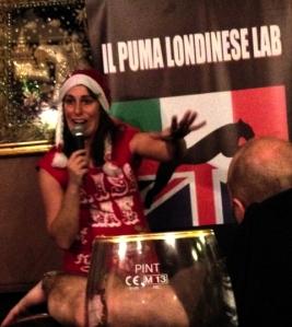Romina Puma warms up the audience last night