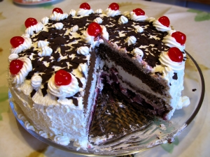 A Black Forest cake from Germany