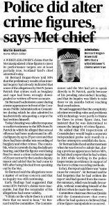 Yesterday's Evening Standard report
