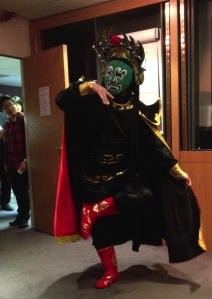 Sichuan Opera face changing this week (Photo by my eternally-un-named friend)
