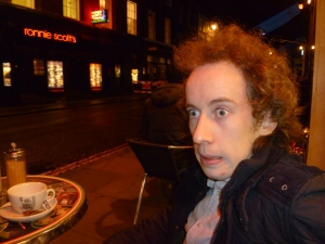 Gareth Morinan in Soho yesterday, shocked by his memories