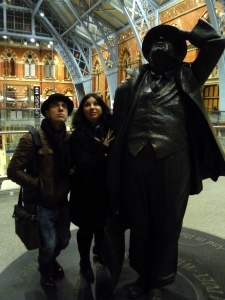 John and Jo join Sir John Betjamin in London