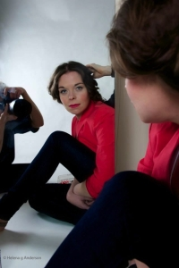 Juliette photographed looking in a mirror - What is real?
