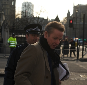 Michael Gove at Westminster in 2008