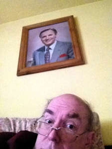 I have a portrait of Nicholas Parsons above my bed