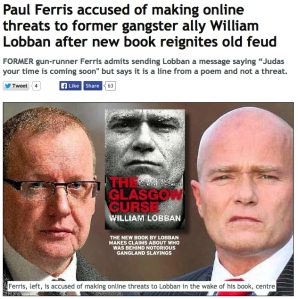 Yesterday's Daily Record report on Ferris (left) and Lobban