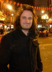Alexander Bennett yesterday in London's Chinatown