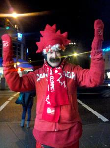 Arty the Jester in Vancouver