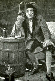 Robb Harwood as Captain Hook in Peter Pan c 1906