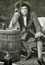Robb Harwood as Captain Hook in Peter Pan c 1906