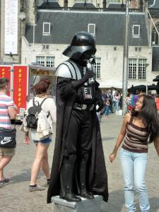 A Darth Vader mime artist in Amsterdam (No, it is not relevant to anything)