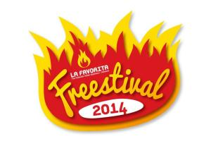 The new Freestival 2014 logo from sponsors La Favorita