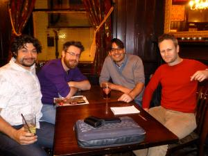 Last night (from left): Sean Brightman, Dan Adams, Alex Marion, Al Cowie