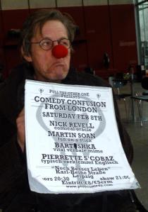 Martin promoting tonight's show in Leipzig