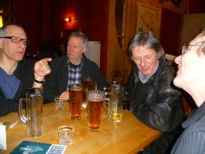 Last night (from left) Nick Revell, Mick, Steve & Martin Soan