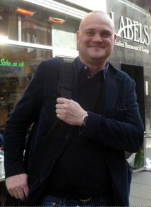 Al Murray in Soho last week