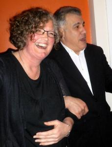 Blanche Cameron with Lewis Schaffer last week