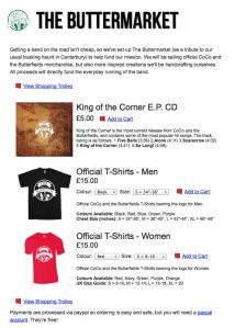 One of the merchandising webpages
