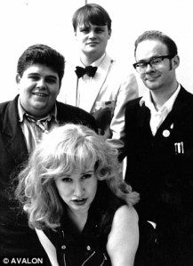 Al Murray (top) with (from left) Andre Vincent, Brenda Gilhooly and Harry Hill in Avalon's 1992 Comedy Zone show at the Edinburgh Fringe