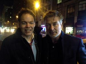 Max Keiser with friend Alec Baldwin in New York's Upper East Side