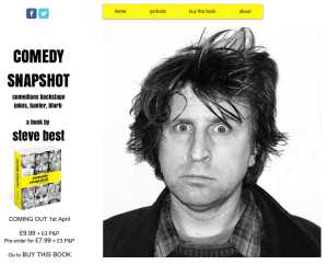 Portrait of Milton Jones on the Comedy Snapshot website