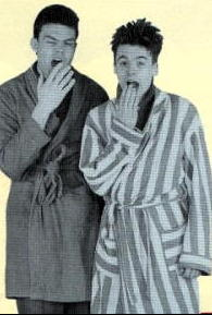 Neil Mullarkey (left) & Mike Myers in the 1987 Wacaday children's TV annual