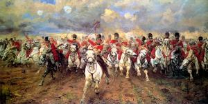The charge of the Scots Greys at the Battle of Waterloo