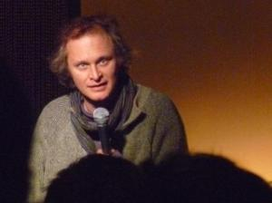 Simon Munnery performing at Goodfather Comedy last night