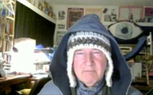 The Iceman at home via Skype a couple of days ago