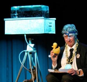 The Iceman with his ice and duck at Royal Festival Hall, 2011