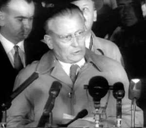 Mariella's uncle, Czech president Antonin Novotny in New York in 1960