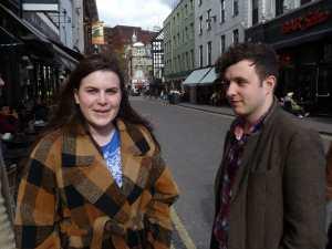 Charlie Dinkin & Gareth Ellis in Soho yesterday