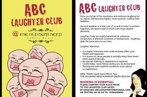 Vivienne's ABC Laughter Club flyer
