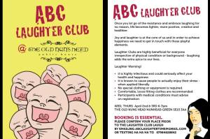 Vivienne's ABC Laughter Club flyer