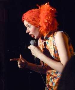 Lindsay Sharman last night, as Madame Magenta
