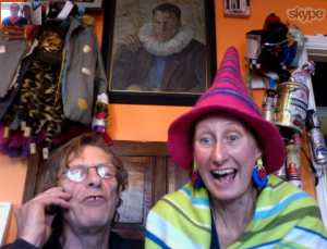 Martin & Vivienne Soan at home yesterday