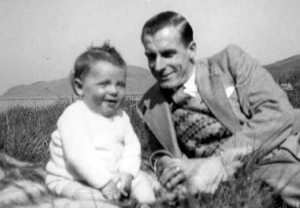 Me (aged 1) with father near home in Campbeltown, Scotland