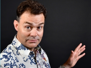 Comic Neil Mullarkey knows how to flirt and schmooze