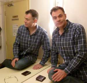 Neil Mullarkey in the Comedy Store dressing room this week