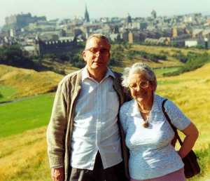 My parents in Edinburgh, perhaps in the 1970s. Who knows?