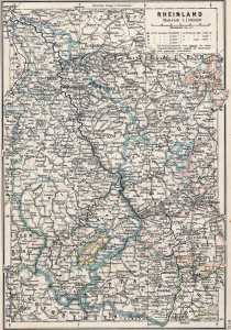 A map of the Rhineland in 1905 looks like the human brain