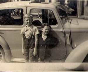 Tony (left) and Douglas Gray when they were young